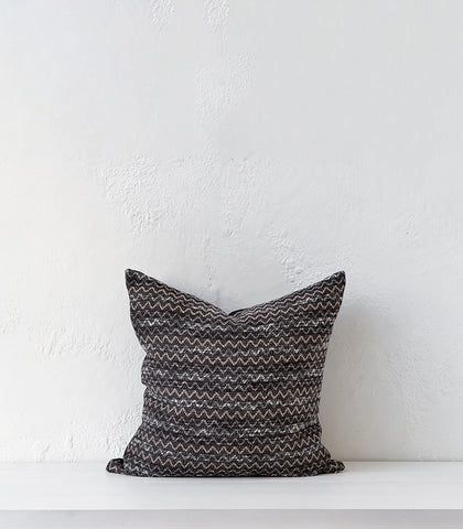 'Ripple' Cushion  w Feather Inner / 55x55cm