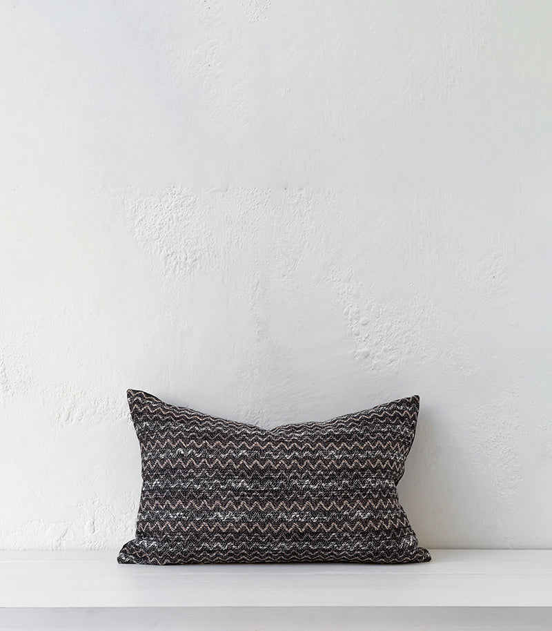'Ripple' Cushion  w Feather Inner/ 60x40cm