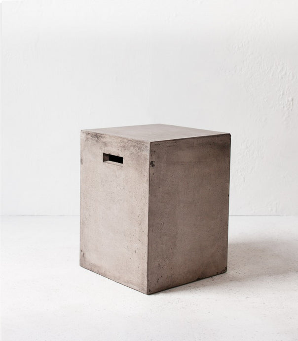 Rectangle concrete stool