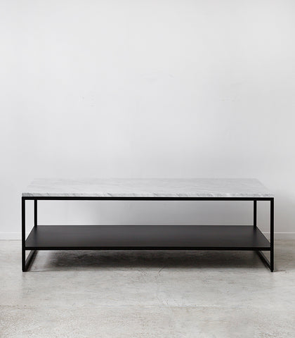 Stone Coffee Table w Shelf / 120cmx70cmx38cmH