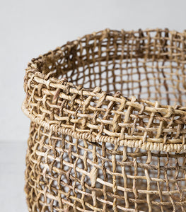 Papaya / Cicely Woven Basket / Large