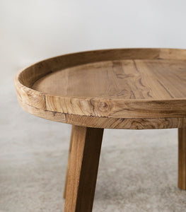 Recycled Round Teak Table / 55cmD