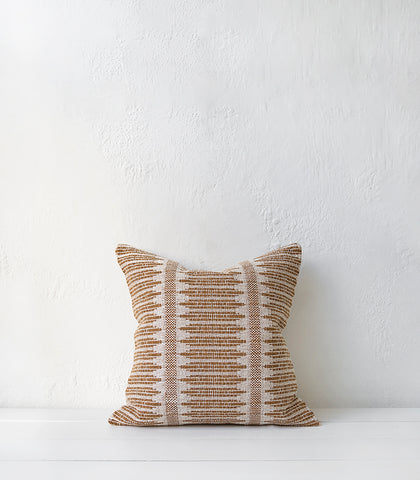 Tatami Cushion w Feather Inner / 50x50cm / Spice