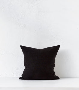 'Temple' Linen-Cotton Cushion w Feather Inner / 45x45cm