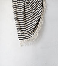 Tribal Candy Stripe Square Beach Blanket/Throw