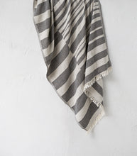 Tribal Kilim Striped Towel / Black