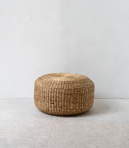 Water Hyacinth Pouffe / 60cmD / Natural