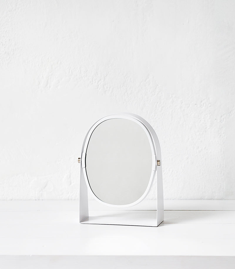 Zone Denmark / Oval Magnifier Mirror / White