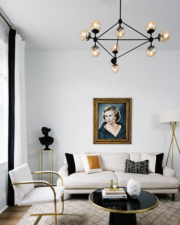 8 Midcentury Living Room Lighting Ideas That'll Inspire You to Go Back in Time