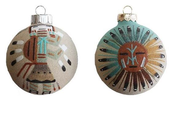 NAVAJO SANDPAINTED ORNAMENTS