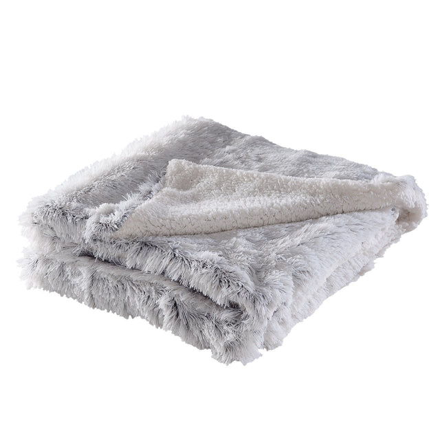 OMBRE FRINGE VELOUR THROW
