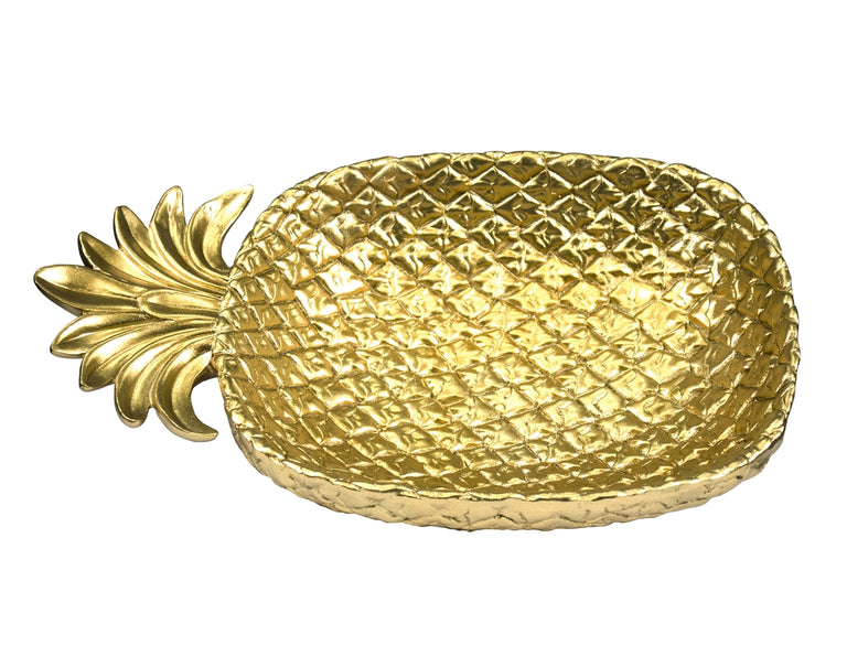 GOLD PINEAPPLE PLATE | DINING & ENTERTAINING