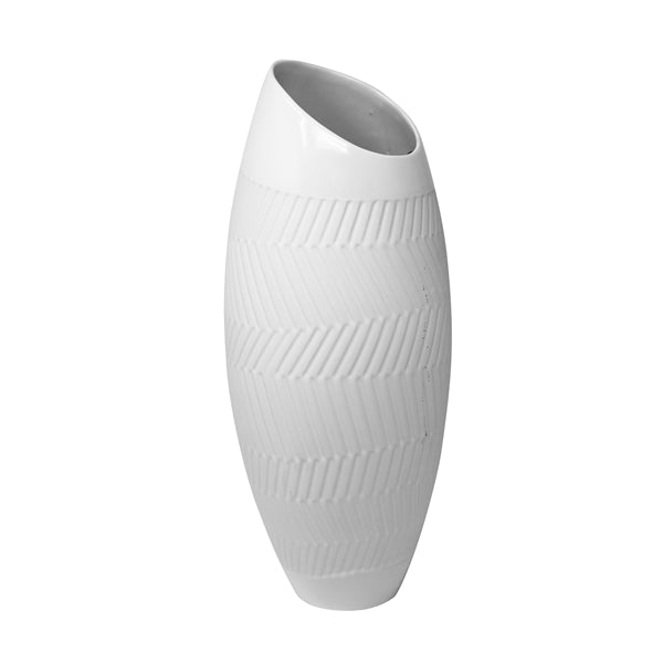 WHITE ASYMMETRIC VASES