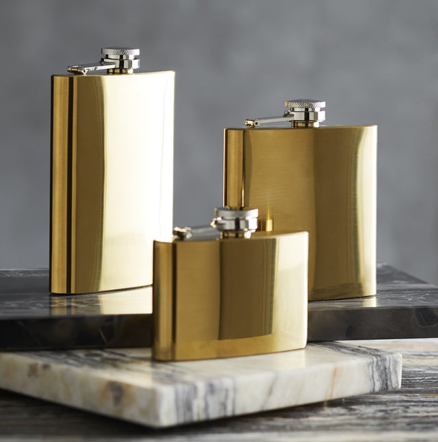POLISHED BRASS FLASKS
