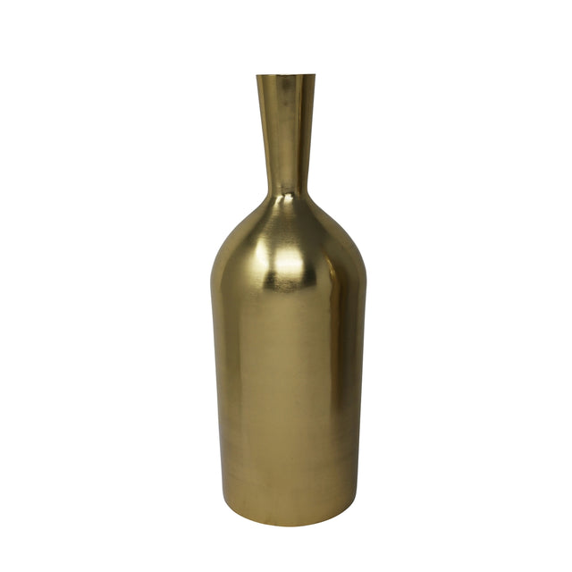 GOLD BOTTLE VASE 15""