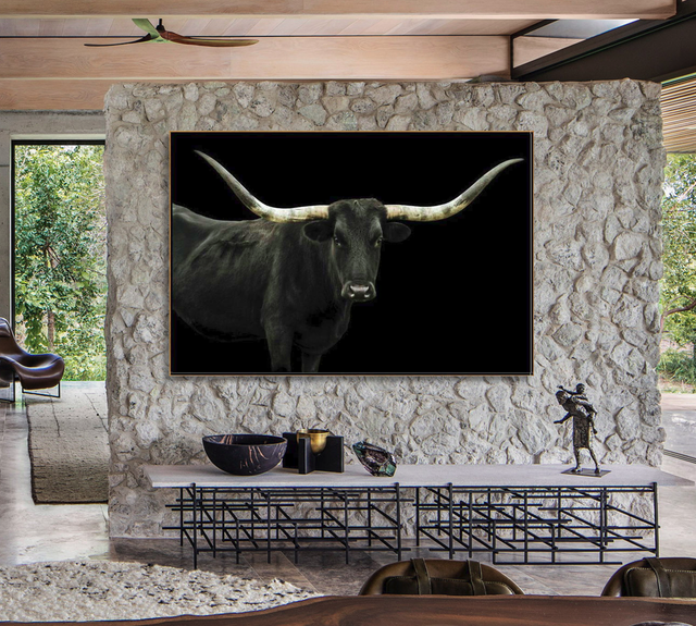 Longhorn 4 by Adam Mowery | stretched canvas wall art