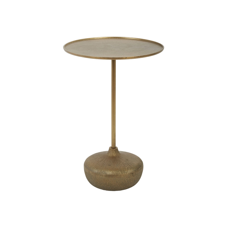 BRASS BULB ACCENT TABLE