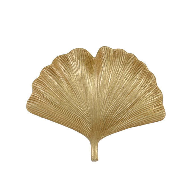 GOLD GINKO PLATE | DINING & ENTERTAINING