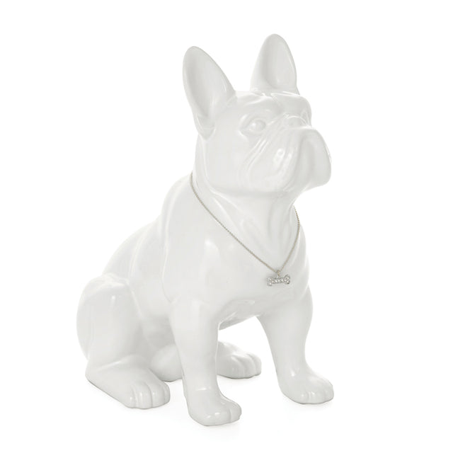 FRENCH BULLDOG, WHITE 12""