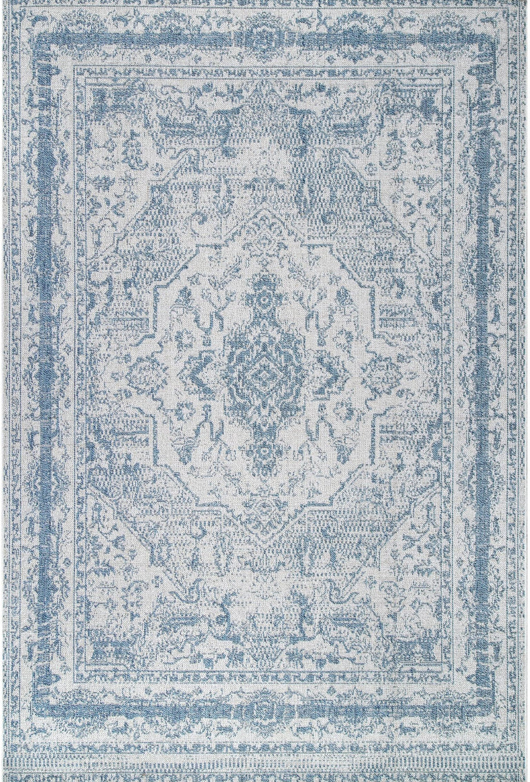 BLUE VINTAGE MEDALLION RUG