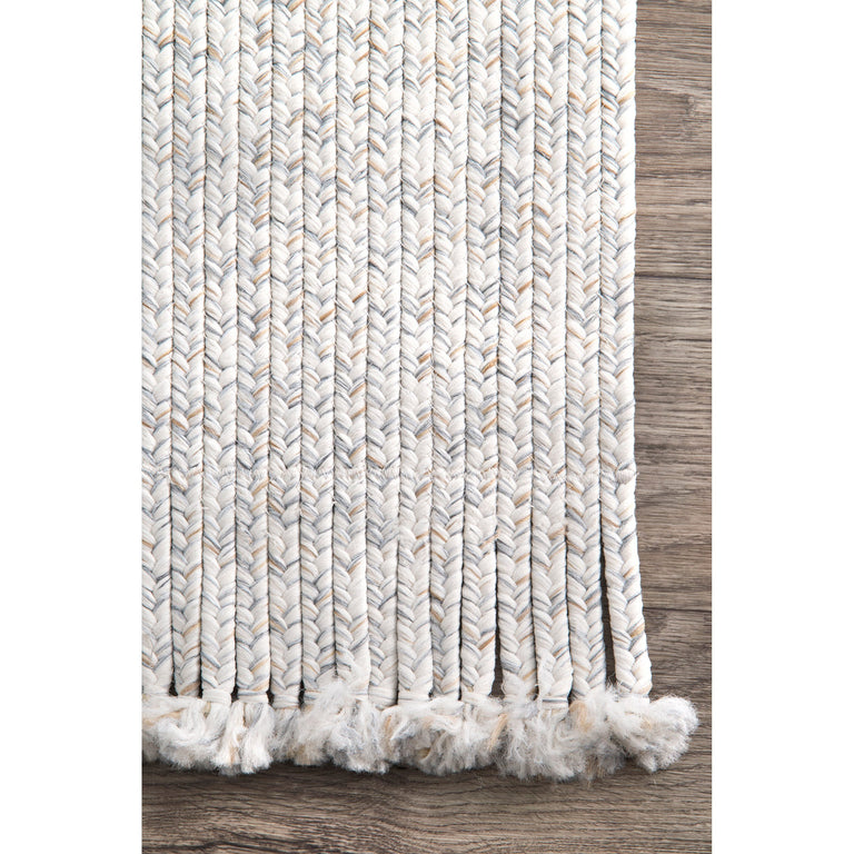 "BRAIDED COURT TASSEL IVORY ( 7'6"" x 9'6"" )"