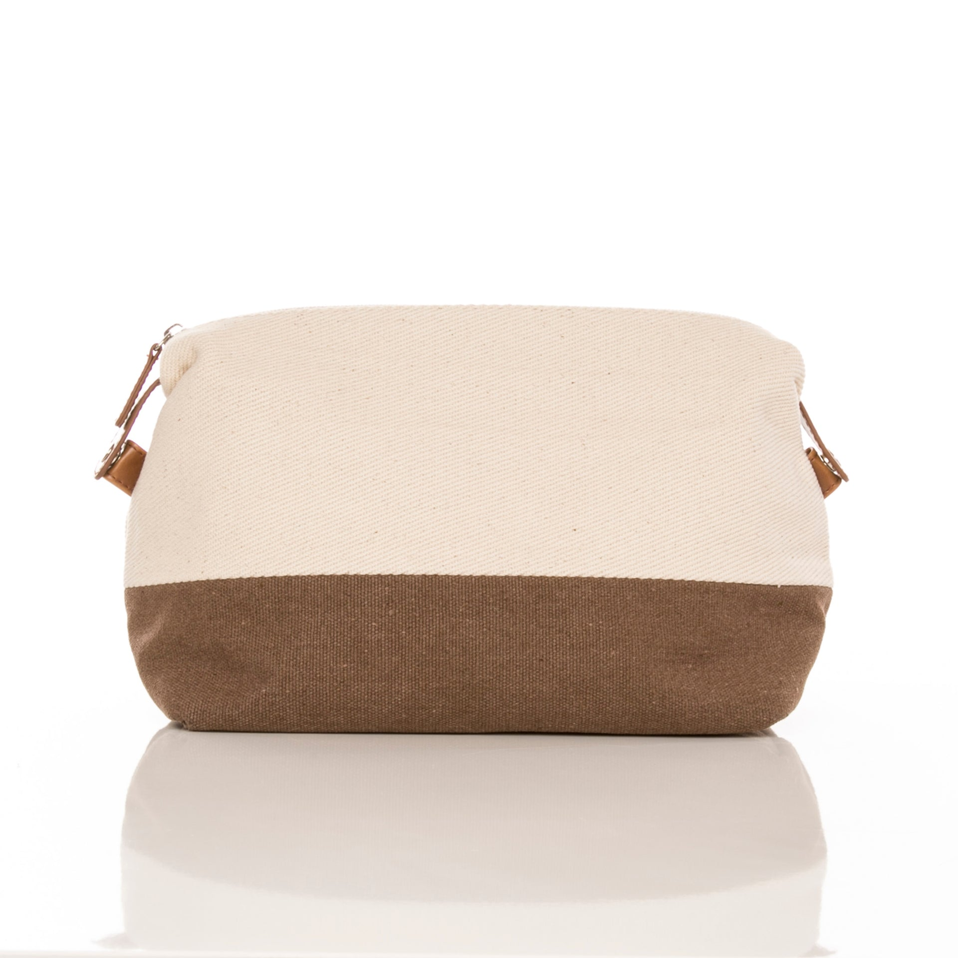 WHITE CANVAS TOILETRY BAG