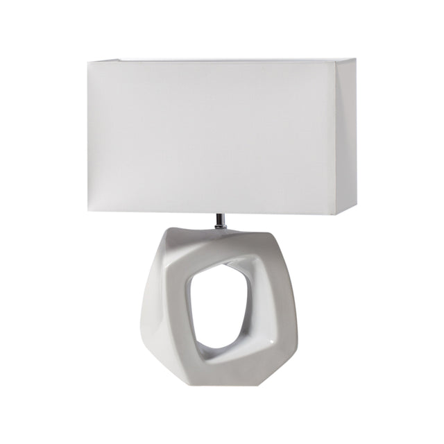 WHITE ABSTRACT OUTLINE LAMP - WIDE