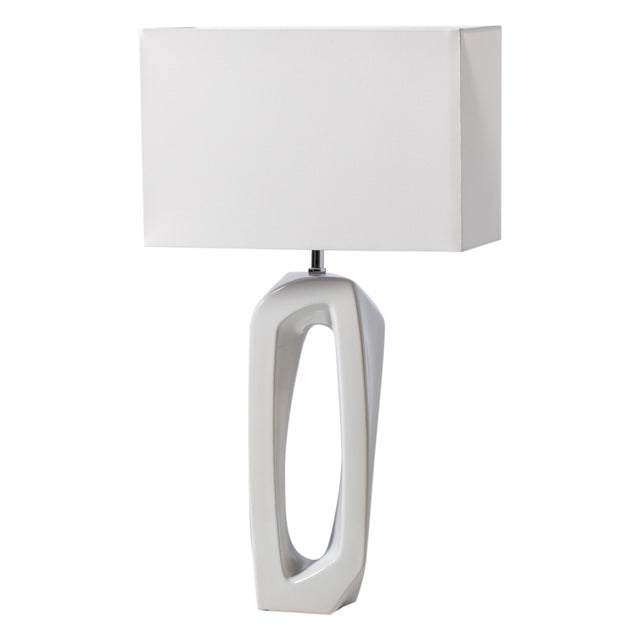 WHITE ABSTRACT OUTLINE LAMP - TALL