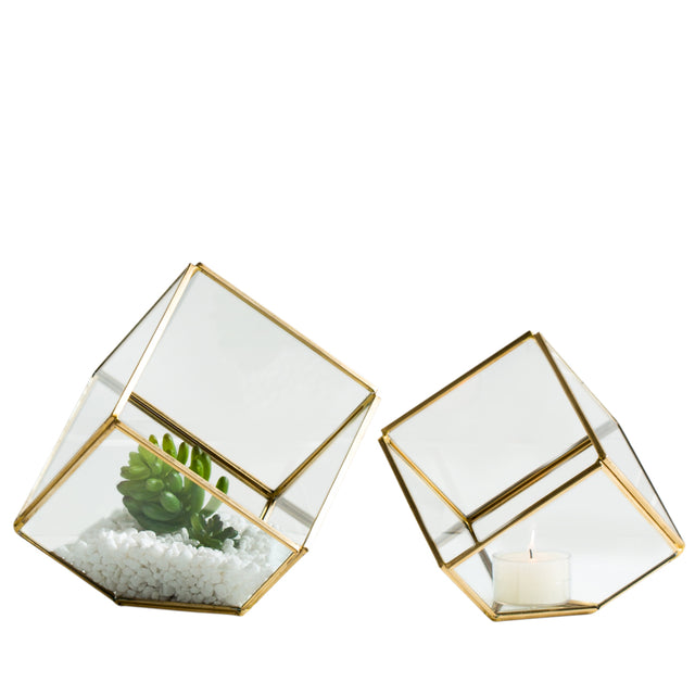 GLASS CUBE TERRARIUMS (SET OF 2)