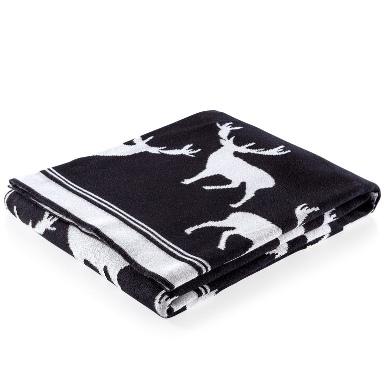 STAG COTTON THROW