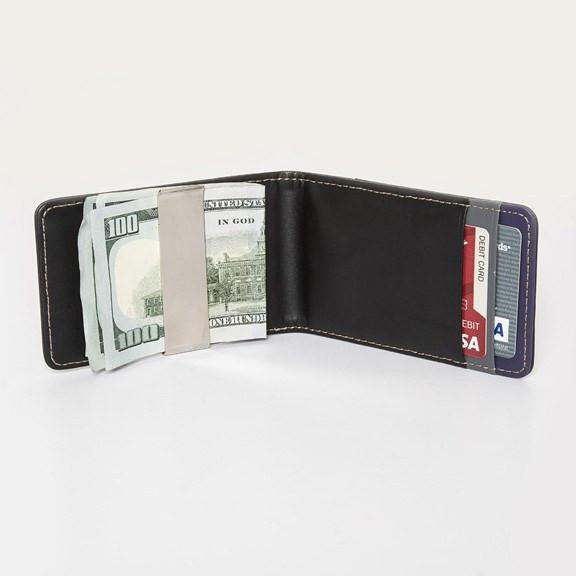 CLASSIC VEGAN LEATHER BIFOLD MONEY CLIP WALLET