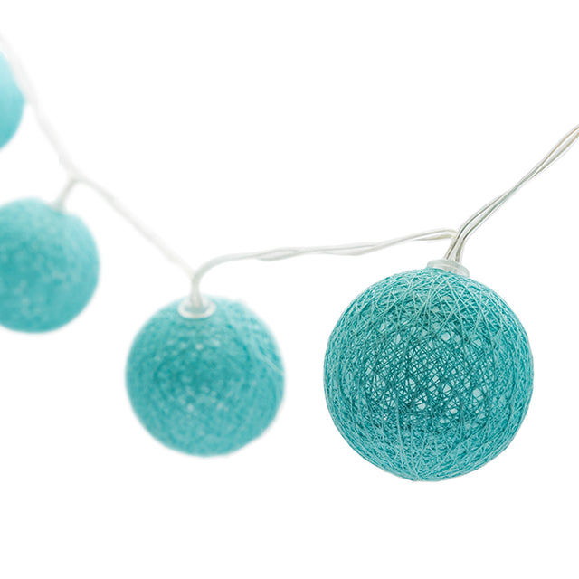 TEAL GLOBE LIGHT STRING
