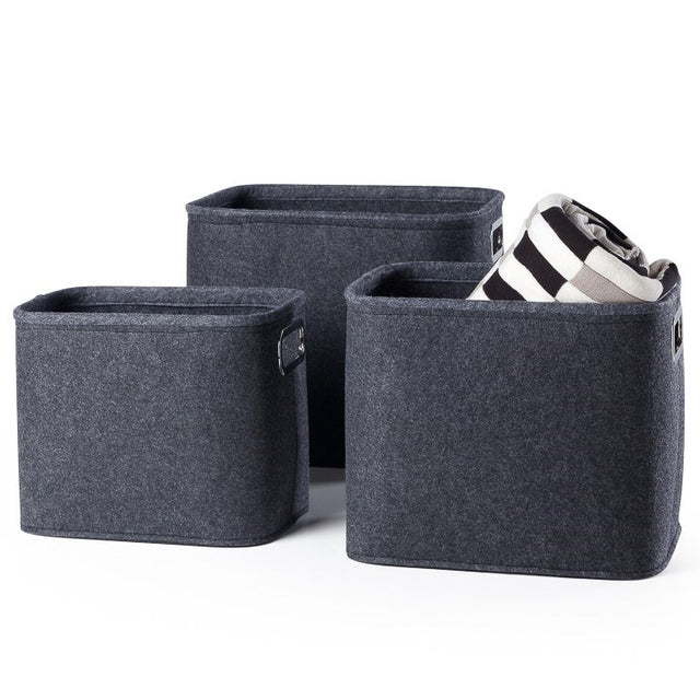 DARK GREY TALL FELT TOTES