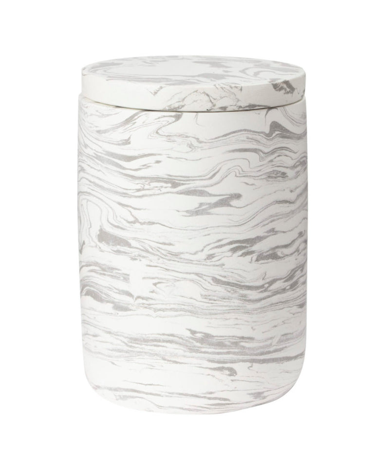 MARBLED CEMENT CANISTER