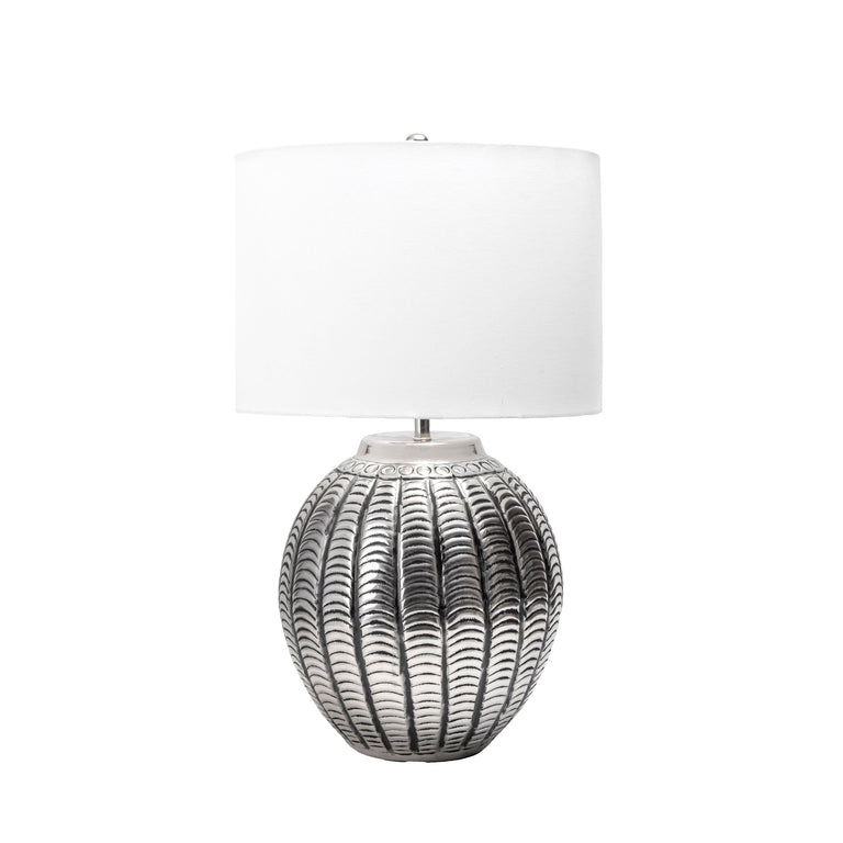 IRON ETCHED TABLE LAMP - 23