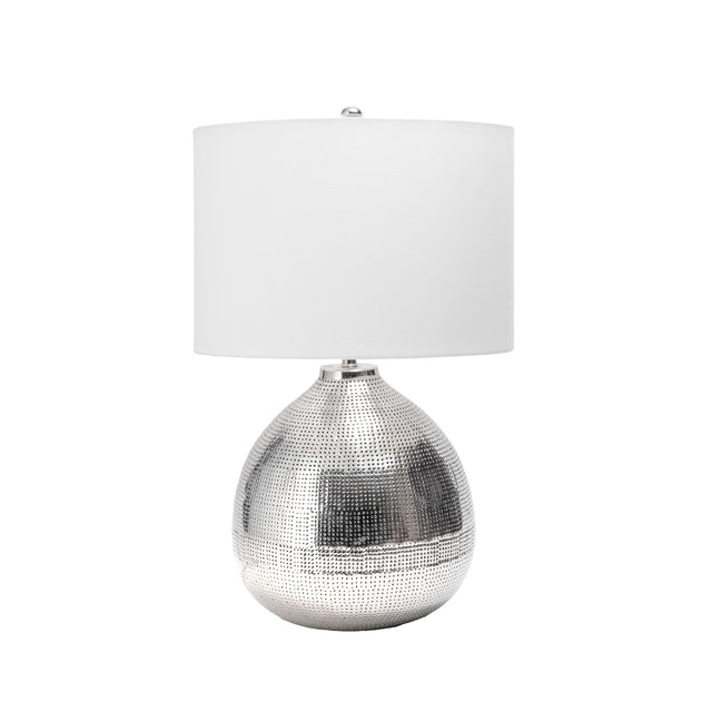 IRON POLISHED TABLE LAMP - 24