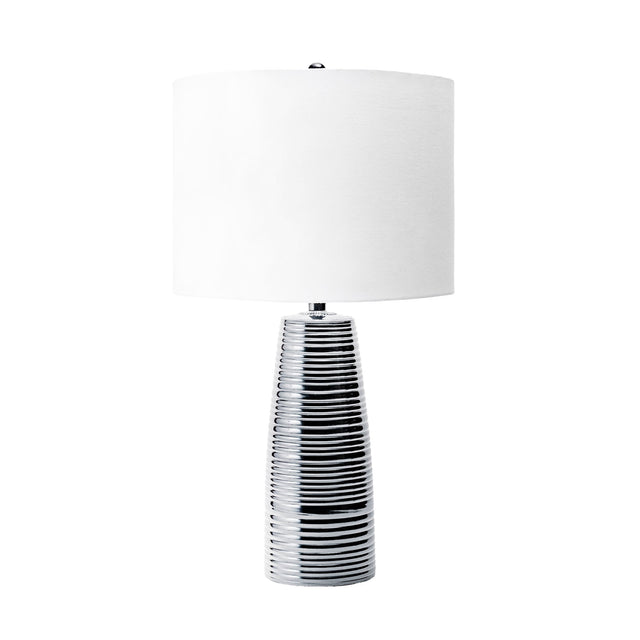 BRUSHED METAL TABLE LAMP - 23