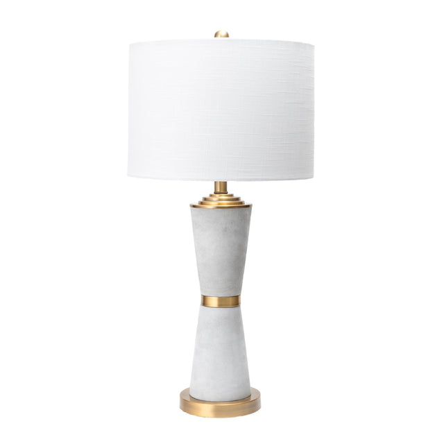 CEMENT & BRASS SILHOUETTE TABLE LAMP - 29