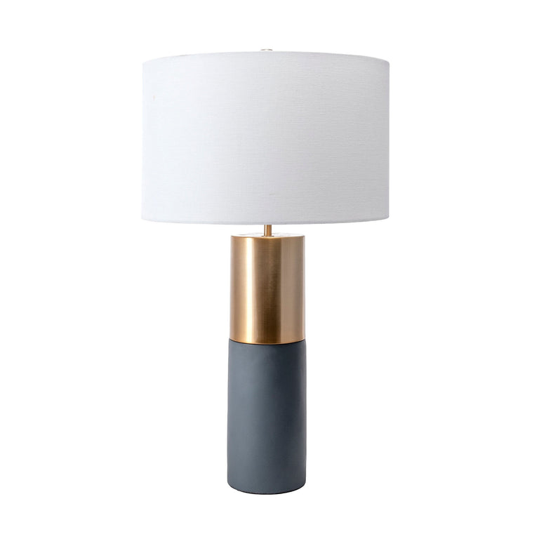 IRON/CONCRETE TABLE LAMP - 24