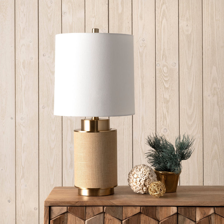 GOLD IRON TABLE LAMP - 24