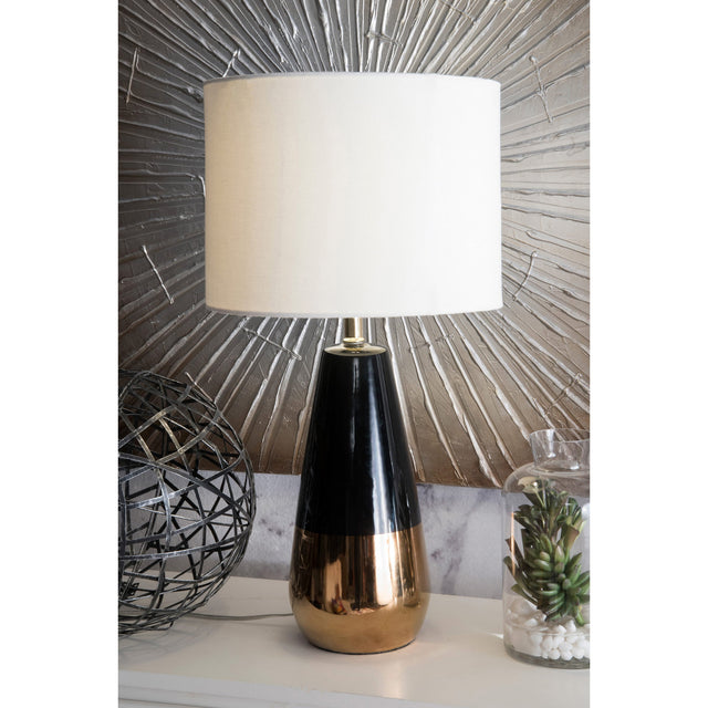 BLACK & GOLD TEARDROP TABLE LAMP - 25