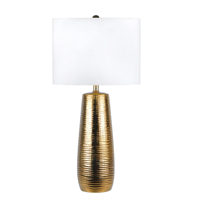 BRASS RIPPLE TABLE LAMP - 26