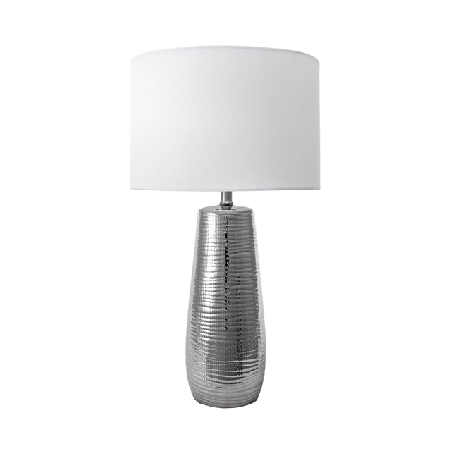 SILVER RIPPLE TABLE LAMP - 26