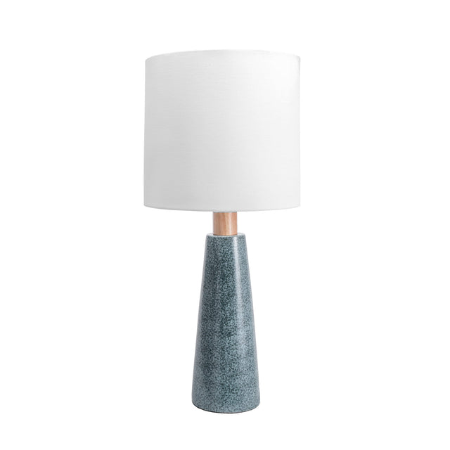 GREEN REACTIVE CERAMIC TABLE LAMP - 29