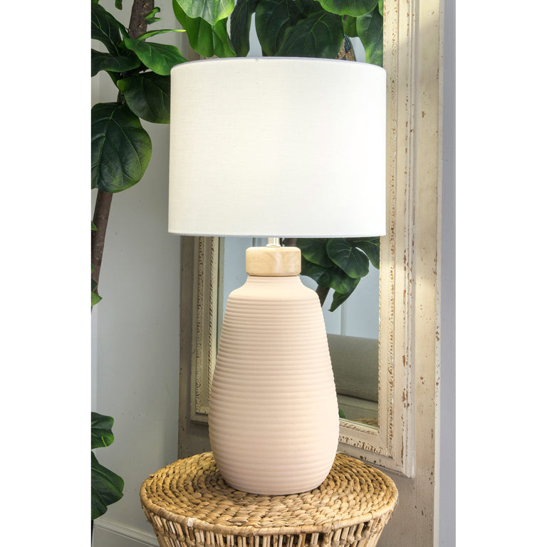 WHITE CERAMIC TABLE LAMP - 31