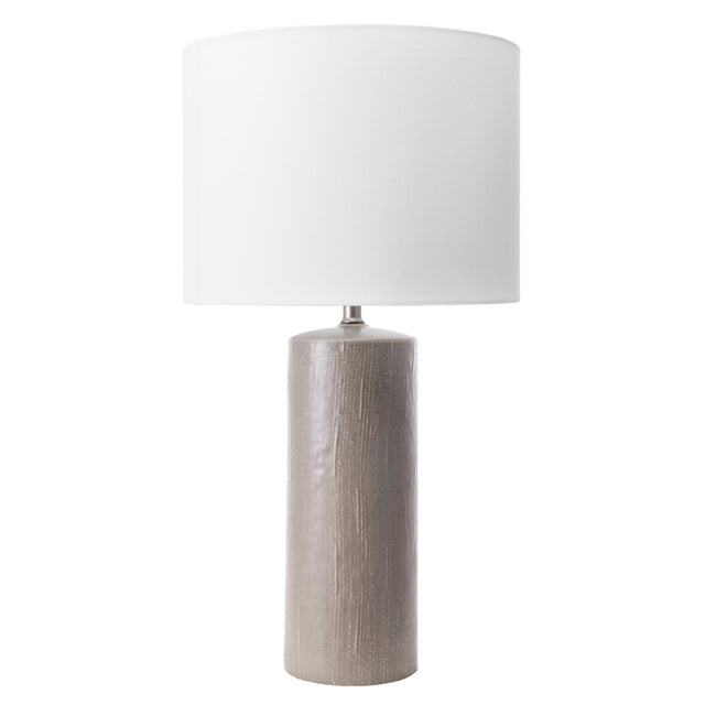 GREY CERAMIC TABLE LAMP - 28