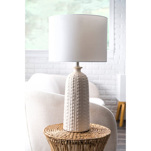 WHITE CERAMIC TABLE LAMP - 30