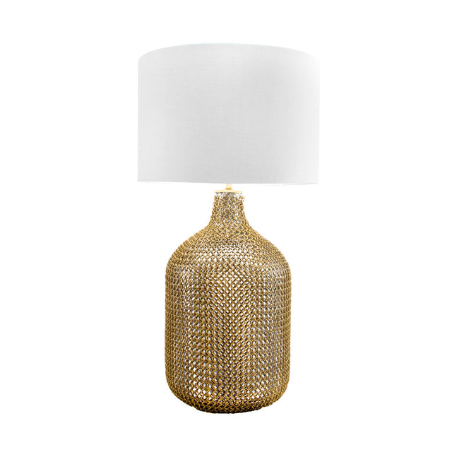 GLASS W/ GOLD METAL TABLE LAMP - 29