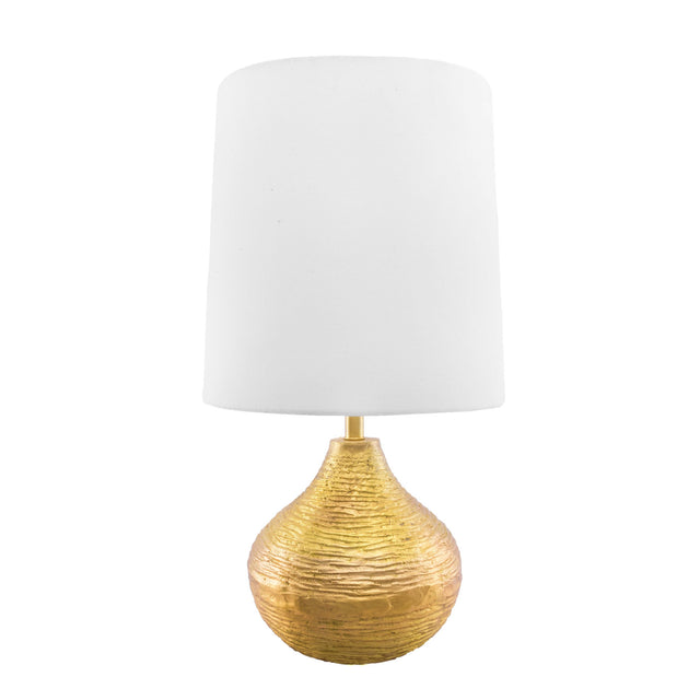 GOLD METAL ETCHED TABLE LAMP - 27