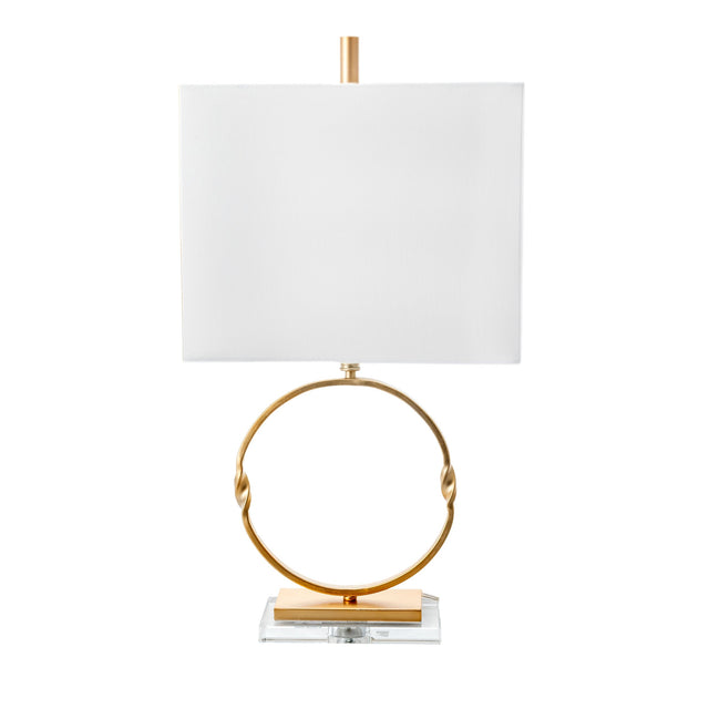 GOLD METAL ROUND TABLE LAMP - 29